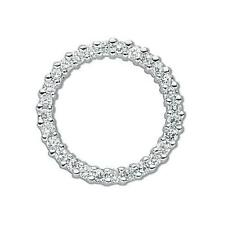 925 Sterling Silver CZ Full Eternity Ring Round Wreath Circle Pendant Gift SPD97