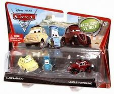 Disney Pixar Cars 2 Die Cast 3 pack Luigi & Guido & Uncle Topolino V2837  NEW