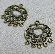 Antique Bronze Pendant or Earring Connector  - pack of 10