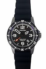 NEW Trintec Aviation ZULU-01 Co-Pilot Men's Stainless Steel Watch Rubber Band
