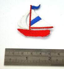 YACHT SAILING SHIP BOAT  Embroidered Iron Sew On Cloth Patch Badge APPLIQUE