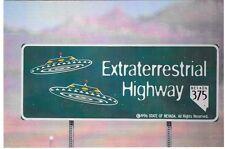 Extraterrestrial Highway Postcard Little A Le Inn Rachel Nevada Nr Area 51 Alien