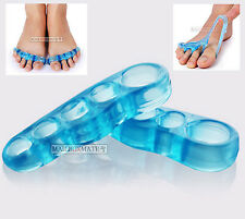 Orthotic Toe Straightener Blue Gel Silicone Separator Hammer Toe Bunion Per Pair
