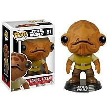 "STAR WARS ADMIRAL ACKBAR 3.75"" POP VINILE STATUETTA 81 FUNKO VENDITORE UK"