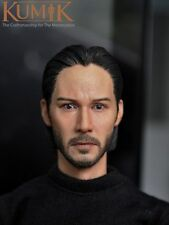 1/6  KM15-5 Keanu Reeves John Wick Head Sculpt For KUMIK Hot Toys  man figure