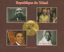 NOBEL PRIZE MARTIN LUTHER KING NELSON MANDELA OBAMA GANDHI MNH STAMP SHEETLET