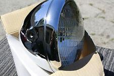 """Lucas style Cafe headlight 7"""" Bullet  CHROME vintage sidemount Complete 12v / 6v"""