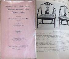 ENGLISH Furniture Porcelains Silver 1942 Parke-Bernet AUCTION Catalog Catalogue