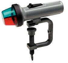 Portable Battery Operated Clamp On Mount Red and Green Bow Light for Boats