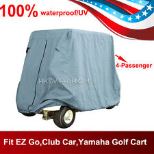4 Passenger Golf Cart Cover For EZ Go,Club Car,Yamaha Cart Taupe Storage Cover
