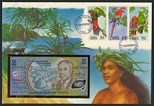 Samoa 2 Tala 1990 P-31a polymer, UNC. Envelope Philswiss with Stamps Mi 713-715