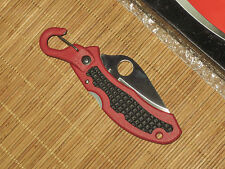 Spyderco C26PRD Snap-It Red Handled Plain Edge Knife - DISCONTINUED RARE - NEW