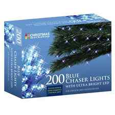 Benross Christmas Lights 200 Ultra Bright LED String Chaser Lights-Blue Colour-