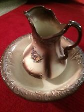 Ironstone Vintage 1890 England Pitcher & Wash Bowl Ceramic Collectible Original