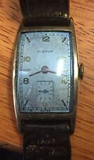Vintage Swiss made RIBAUX wind up mens watch .Needs strap. Great bezel