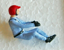 Pioneer 154-RBL Driver figure, blue uniform, red open-face helmet