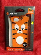 NEW GRIFFIN Orange Tiger Animal Parade Case Apple iPhone 5 5S Silicone