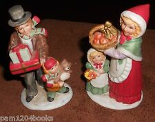 HOME INTERIORS HOMCO VINTAGE 1980'S CHRISTMAS VICTORIAN FAMILY #5554