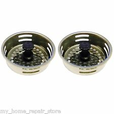 FREE S&H! CLOGGED DRAINS ? YOU GET 2 STAINLESS STEEL KITCHEN SINK DRAIN STRAINER