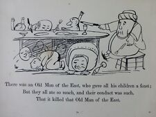 EDWARD LEAR nonsense Limerick -  Antique print 1891 - OLD MAN OF THE EAST