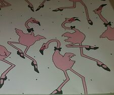 "Vintage 1980's Pink Flamingo  Gift Wrapping Paper 7 Sheets 2 Styles 22""x33"""