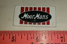 Moorman's moormans feed logo pig cow magnet very nice colorful shaped nos! Htf!