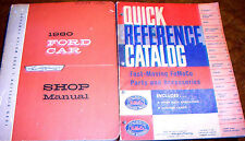 1960 60 Ford Parts Catalog Shop Manuals Fairlane Galaxie 500 Sunliner Ranch Orig