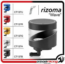 Rizoma CT137B Wave - Aluminium Fluid Tank for Front Brake Black Color
