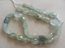 """15"""" Strand Natural Aquamarine Gemstone Faceted Nugget Beads 9mm-14mm"""