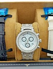 JOE RODEO JJML12 STAINLESS STEEL GENUINE DIAMOND WATCH 3.70 CT JOJO AQUA MASTER