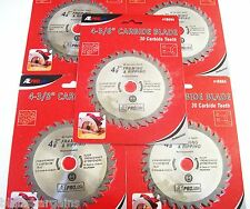 "5 ATE PRO 4-3/8"" CORDLESS CARBIDE TIPPED CIRCULAR SAW BLADES 30T 30 TOOTH 18004"