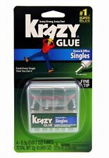 Elmer's Products Inc KG82048SN Instant Crazy Glue Single Use 4 tubes