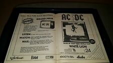 AC/DC Blow Up Your Video KNAC Rare Concert Contest Promo Poster Ad Framed!