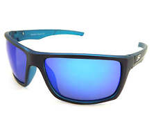 Dirty Dog Polarised Primp Sunglasses Satin Black Xtal Blue / Blue Mirror 53375