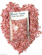 Pink & Red Heart Sugar Sprinkles 30g Cake Cupcake decorations hearts valentines