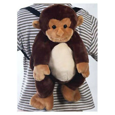Toddler Kids Plush Zoo Animal Monkey Travel Buddy Preschool Backpack Bag NEW 3+