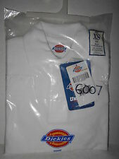 Dickies Kids Long Sleeve Polo Shirt Uniform - White- Size XS (4) - New