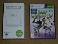 TV MOUNT STAND for XBOX 360 SENSOR CAMERA  CLIP BRAND NEW! + KINECT SPORTS GAME