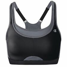 NWT Champion Racerback All Out Max Support Sports Bra Sz 38C Black Sup 1660