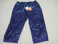 Puma Shiny Nylon Tracksuit Shorts Waterproof Sport Running Jogging Walking M NWT