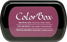 Dark Cherry  ARCHIVAL DYE Colorbox INKPAD Permanent  Ink Stamp Pad Rubber Stamps