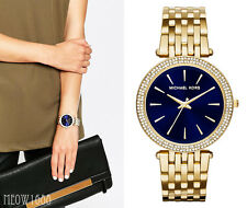 Brand New Michael Kors Women Gold Tone 39mm Case Darci Glitz Watch MK3406