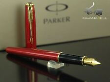 Parker Sonnet Fountain Pen Red And Gold