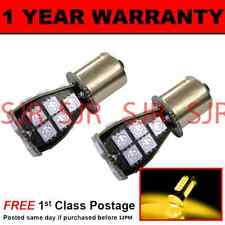 581 BAU15S PY21W XENON AMBER 21 SMD LED REAR INDICATOR LIGHT BULBS X2 RI201901