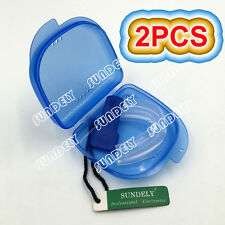 2Pcs Anti Snore Mouth Guard Piece Stop Snoring Stopper Aid Sleep Apnoea Sleeping