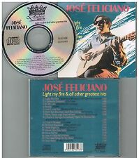 José Feliciano ‎– Light My Fire & All Other Greatest Hits CD,1990