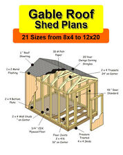 10x16 Shed Plans in 21 sizes from 8x4 to 12x20