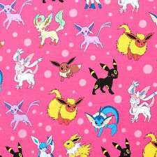"ROBERT KAUFMAN ""POKEMON"" DOTS Pink by yard"