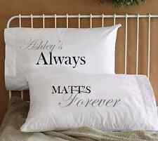 Personalized Always & Forever Love Couple Pillowcases Cool His & Her Pillow case