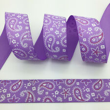 New 5 Yards 1Inch (25mm) Printed Grosgrain Ribbon Hair Bow DIY Sewing #016